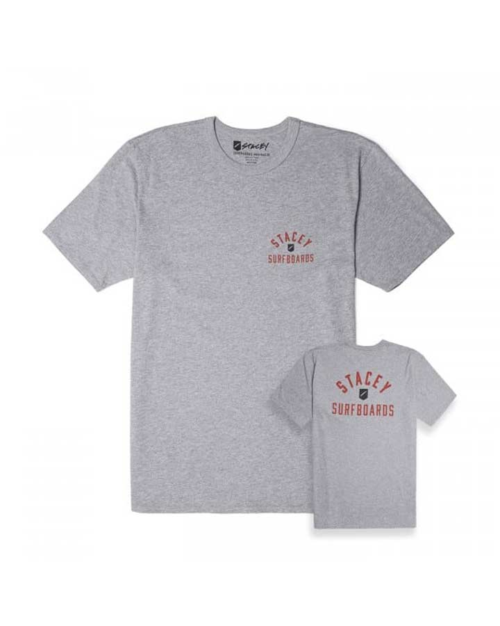 ARCHED TEE – GREY/BLACK
