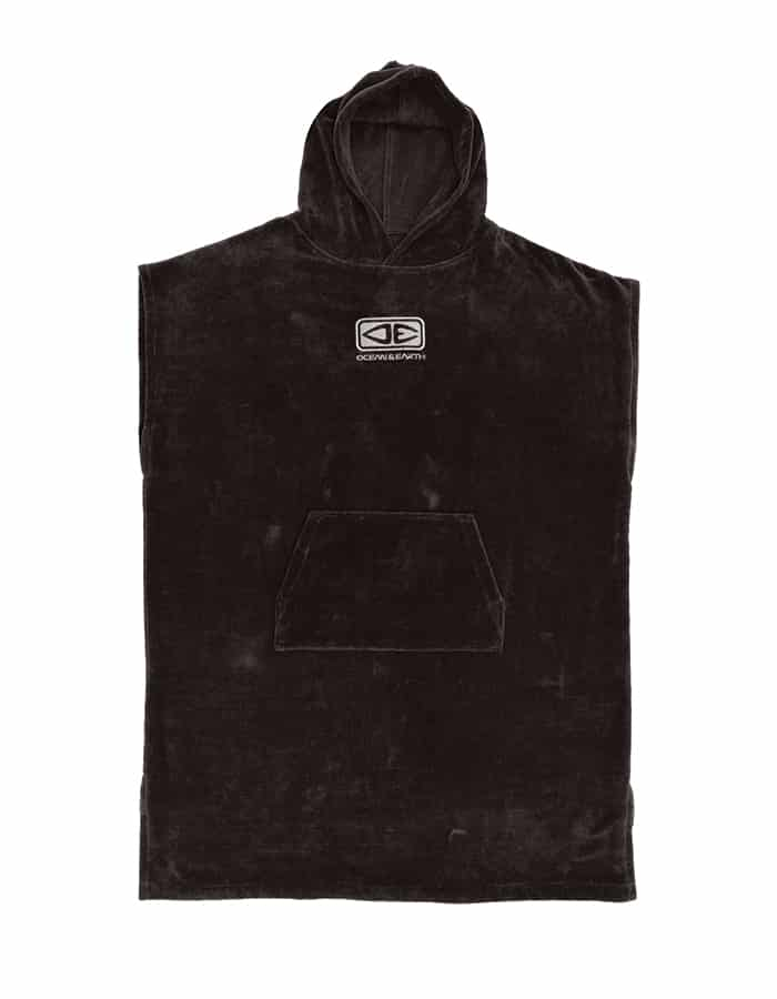 Mens Corp Hooded Poncho – Black