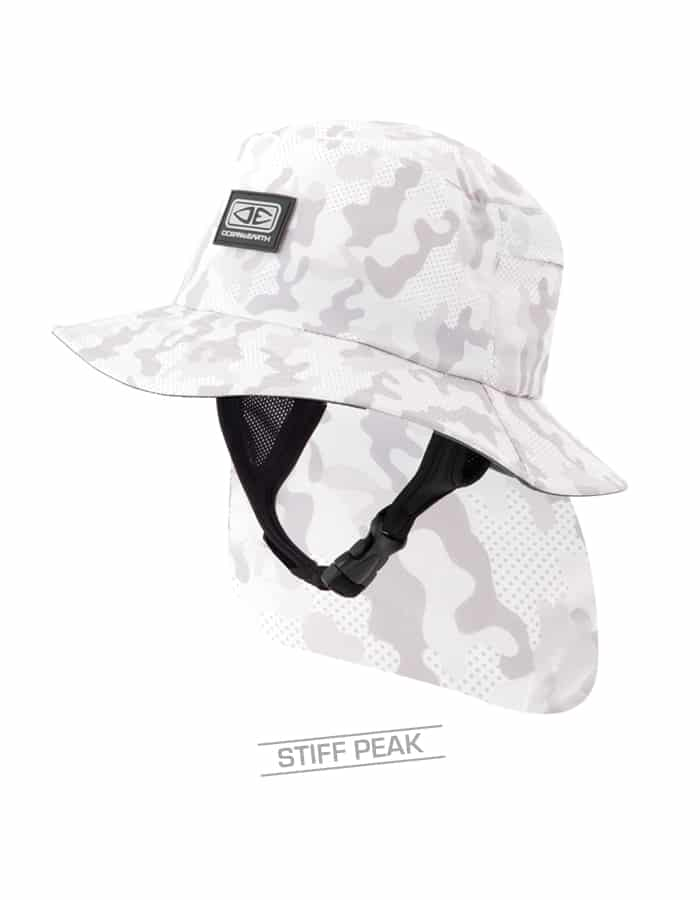 Mens Indo Stiff Peak Surf Hat – Camo