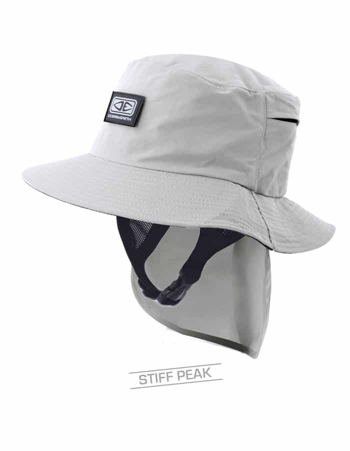 Mens Indo Stiff Peak Surf Hat – Grey